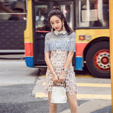High Quality Self Portrait Women Floral Hollow Out Lace Dress 2017 Runway peter pan collar cloak A-line Short Sexy Party Dresses