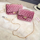 Brand Luxury Handbags Women Bags Designer 2018 Messenger Bag Velvet Chain Crossbody Bags For Women Channels bolsa feminina