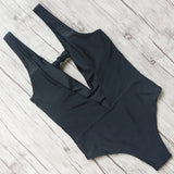 2018 Sexy One Piece Swimsuit Backless Swim Suit Women Swimwear Push Up Monokini Sexy Deep-V Swimwear Halter Bodysuit Beachwear