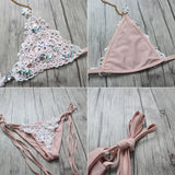 Bikini 2018 Sexy Women Bikini Luxury Handmade Diamond Rhinestone Solid Swimwear Women Swimsuit Bandage Beach Wear Bathing Suit