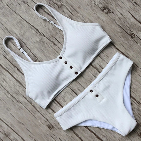 Bikini 2018 Solid Swimwear Women Bikini Set Sexy Bandage Swimsuit Brazilian Biquini Female Beachwear Bathing Suits Swimming Suit