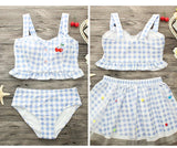 2017 New Girl Swimsuit maillot de bain push up Plaid bikinis women Sexy bikini set Swimwear women summer Lace dress bathing suit