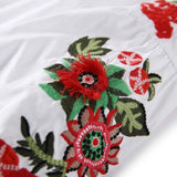 Womens Tops And Blouses 2018 Spring Long Sleeve Floral Embroidery Cotton White Blouse Femme Blusas Femininas