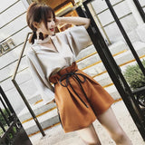New summer women 2 Pieces Set bandage shorts+Ruffle Chiffon Tops Casual Elegant Street Plus size Female 2 Pieces Shorts Set