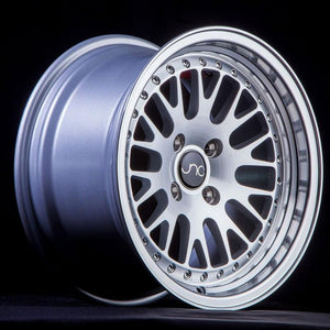 JNC001 | Silver Machined Face | 15x9 | 4x100/4x114.3 | 10+mm | CB: 73.1