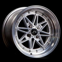 JNC002 | Silver Machined Face | 15x8 | 4x100 | +25mm | CB: 73.1