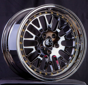 JNC001 | Platinum Gold Rivets | 17x9 | 4x100/114.3 | +20mm | CB: 73.1