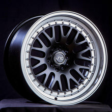 JNC001 | Gloss Black Machine Lip | 17x8 | 4x100/4x114.3 | +25mm | CB: 73.1
