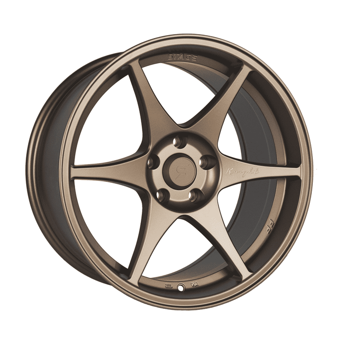 Stage Wheels Knight 18x9.5 +22mm 5x120 CB: 74.1 Color: Matte Bronze