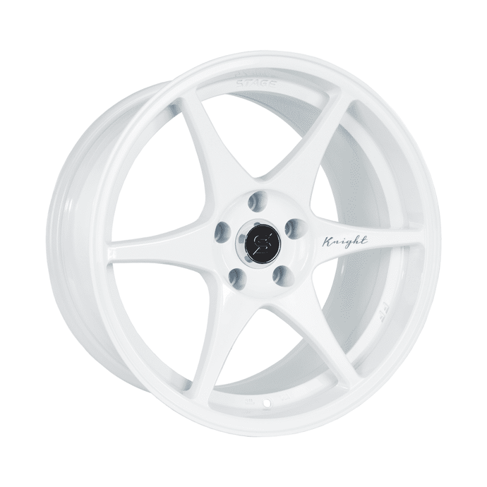 Stage Wheels Knight 17x9 +10mm 4x114.3 CB: 73.1 Color: White