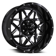 HD Off-Road Wheels Truck & SUV Wheels 20x10.0 | 6x135 | -25mm | 4.5 in | 106.2mm HD Off-Road Caliber Wheels | Black Milled | for 6x135 Trucks