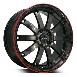 HD Wheels HD Wheels Autobahn 20 x 8.5 / 5 x 114.3 (et20mm) / Gloss Black Polished Tinted w Redline HD Wheels Autobahn Redline - Closeout