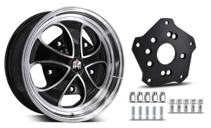 Klassik Rader Classic Car Wheels 5x205 Klassik Rader Falcon with Adapter to 4x130 Vehicles ( Sold As Each )