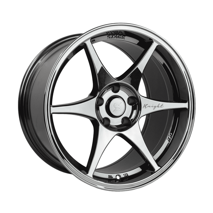Stage Wheels Knight 18x9.5 +12mm 5x120 CB: 74.1 Color: Black Chrome