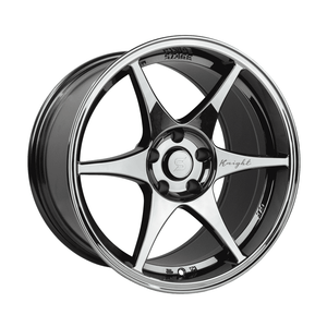 Stage Wheels Knight 18x9.5 +12mm 5x114.3 CB: 73.1 Color: Black Chrome