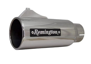 "Remington Off-Road Exhaust Tips 2.5 Inch Inlet / 4.0 Inch Tip / Polished Stainless Remington Off-Road Edition ""Open Sight"" Exhaust Tips"