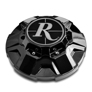 Remington Off-Road Replacement Center Caps 6 Lug Covered / Gloss Black Remington Off-Road - V2 Hybrid Off-Road Truck Wheel Center Caps