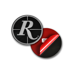 Remington Off-Road Replacement Center Caps 75mm Remington V2 Logo / Black & Silver Remington Off-Road - V2 Hybrid Off-Road Truck Wheel Center Caps