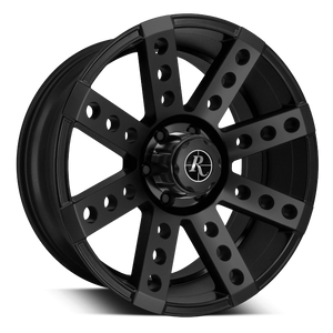 Remington Off-Road Truck Wheels 17x9.0 | 5x127 | et-16mm | 4.4 in | 71.5mm Remington Off-Road Wheels Buckshot Truck | All Satin Black