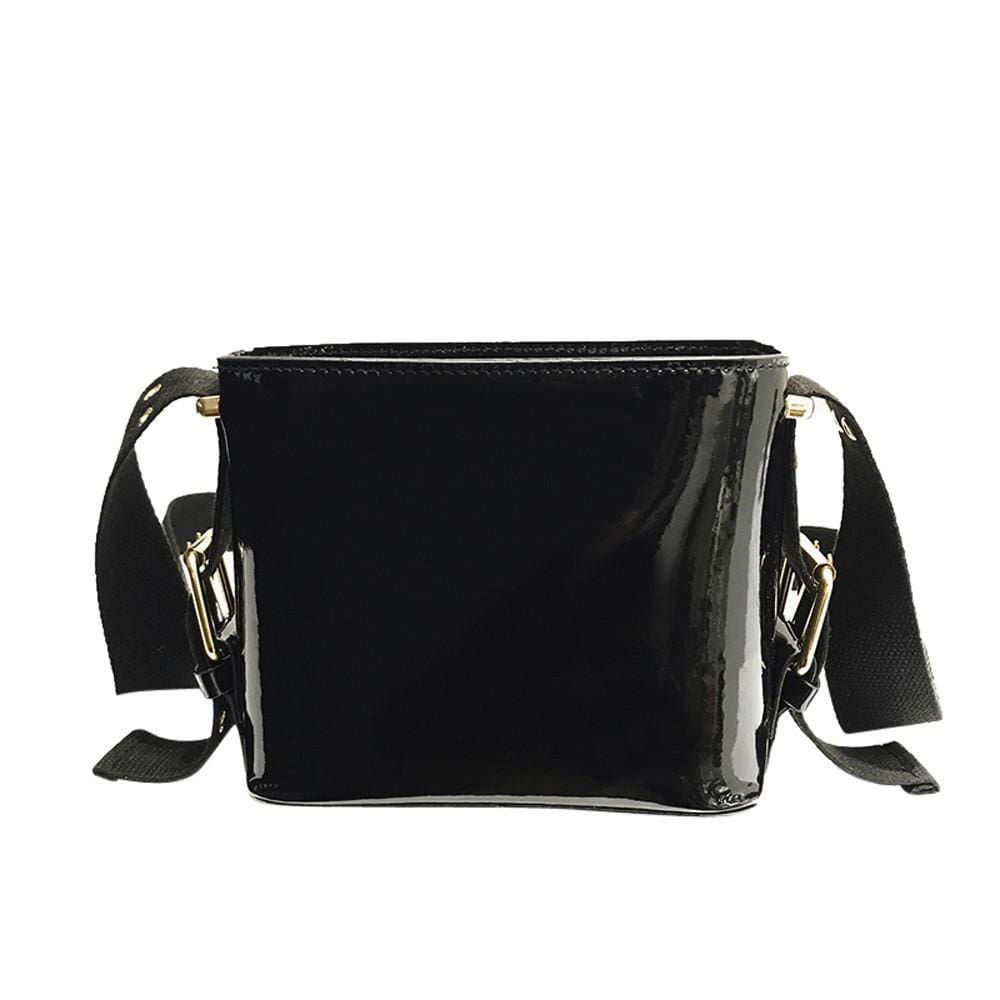 e85dc532e ... Load image into Gallery viewer, Compact Square Patent Leather Cross  Body Bag - Totally Bags