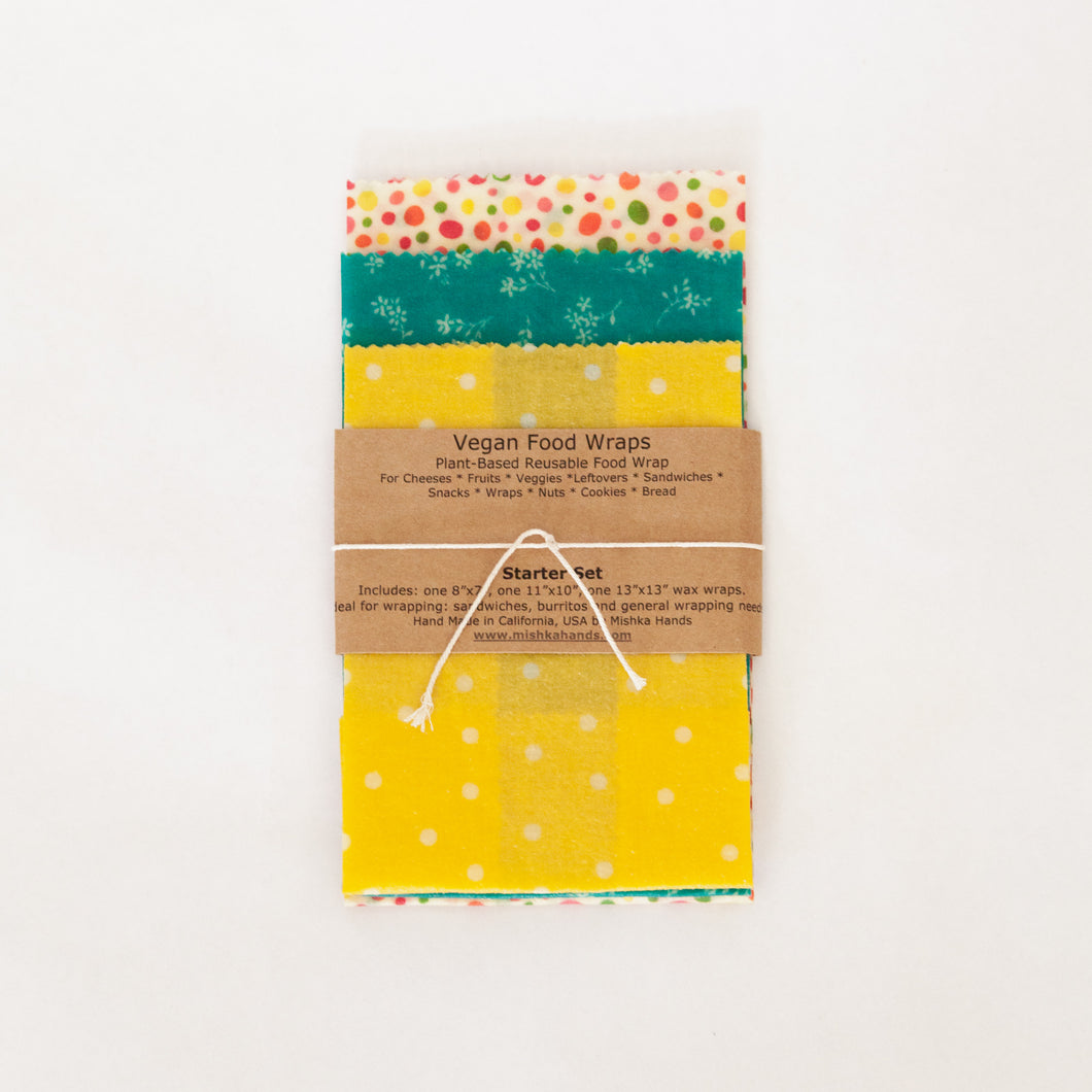 Beeswax Wraps -set of 3