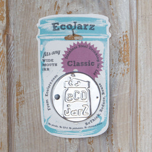 EcoJarz Stainless Steel Jar Lid - Wide Mouth