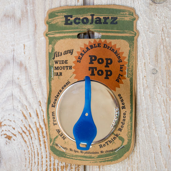 EcoJarz Pop Top Jar Lid - Wide Mouth