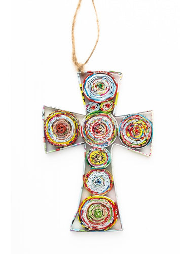 Recycled Paper Ornament - Cross