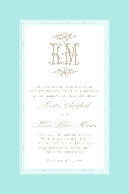 Tiffany Blue Linen Border