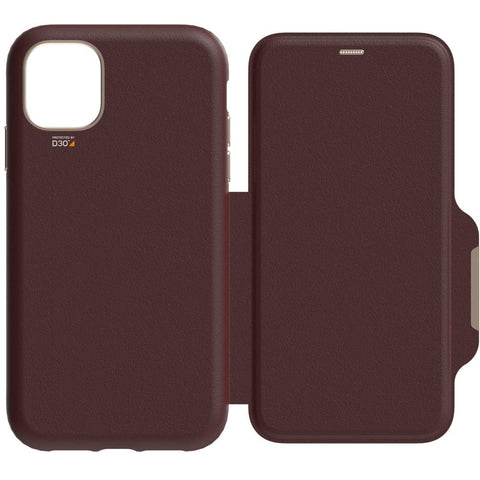 EFM Monaco D3O Leather Wallet Case Armour - For iPhone 11 Pro Max - Mulberry