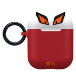 Case-Mate CreaturePod Case for Air Pods - With Neck Strap - Edge The Bad Boy Case (White/Red)