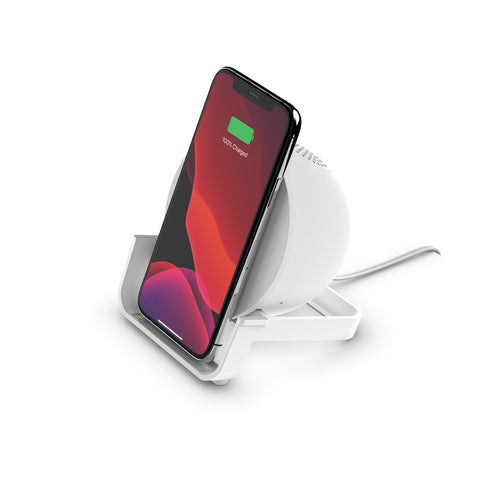 Belkin BOOSTCHARGE 10W Wireless Charging Stand and Speaker - Universally compatible - White