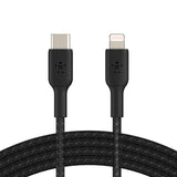 Belkin BoostCharge USB-C to Lightning Braided Cable - For Apple devices - Black