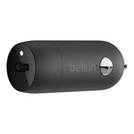 Belkin BoostUp 18W USB-C Car Charger with Lightning Cable - For Apple devices - White