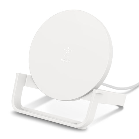 Belkin BoostCharge Wireless 10W Charging Stand - PSU Not Included - Universally compatible - White
