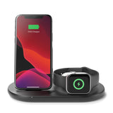 Belkin 3-in-1 Wireless Charger with 10W Stand & Pad for Apple Watch & Airpods Pro - For Apple devices - Black