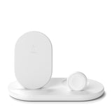 Belkin 3-in-1 Wireless Charger with 10W Stand & Pad for Apple Watch & Airpods Pro - For Apple devices - White
