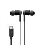 Belkin USB-C IN-EAR HEADPHONE BLACK - Universally compatible - Black