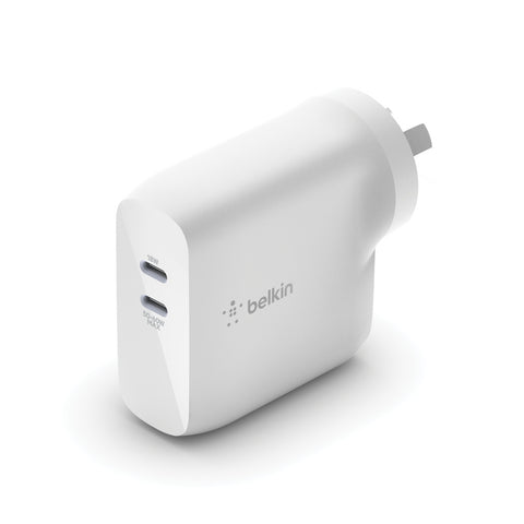 Belkin BOOSTCHARGE Dual USB-C GaN Wall Charger 68W - Universally compatible - White