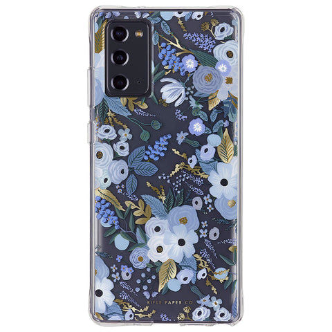 "Rifle Paper Case - Garden Party - Blue - For Galaxy Note20 (6.7"")"