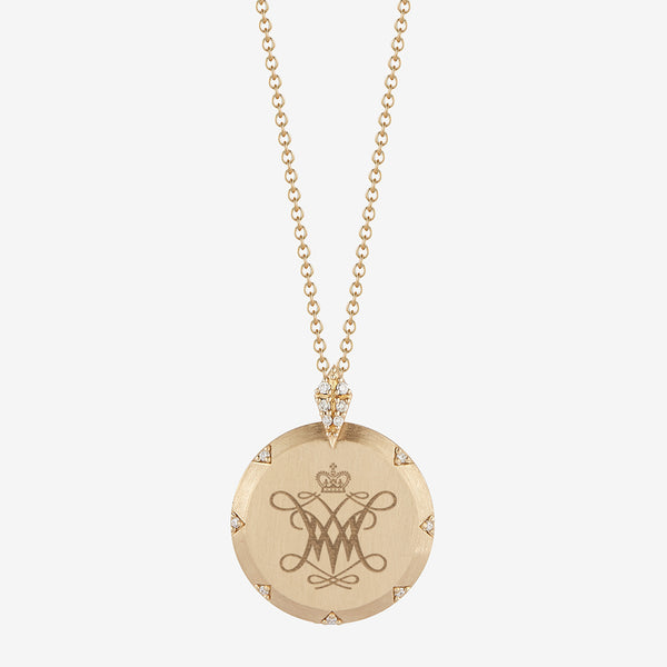 William and Mary 7-Point Diamond Necklace