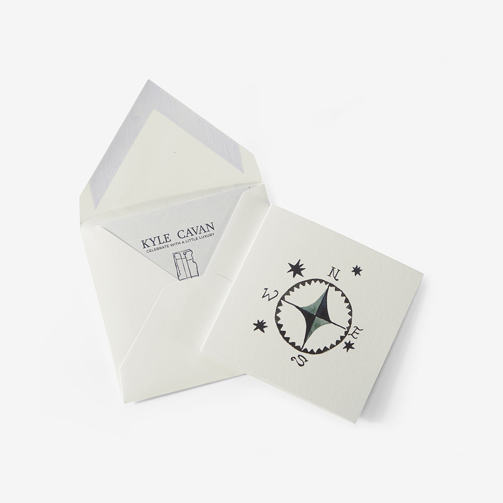 Hand-Painted Compass Card
