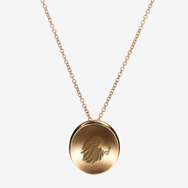 Gold Alpha Delta Pi Lion Necklace