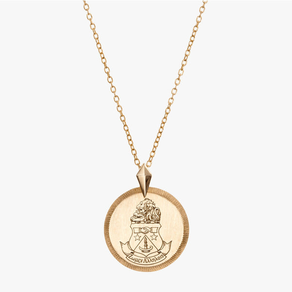 Alpha Delta Pi Gold Florentine Necklace Petite