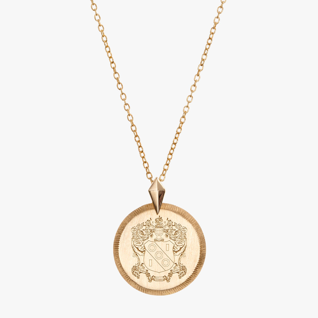 Gold Alpha Gamma Delta Florentine Necklace Petite