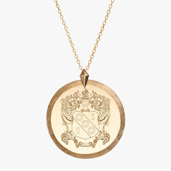 Gold Alpha Gamma Delta Florentine Necklace