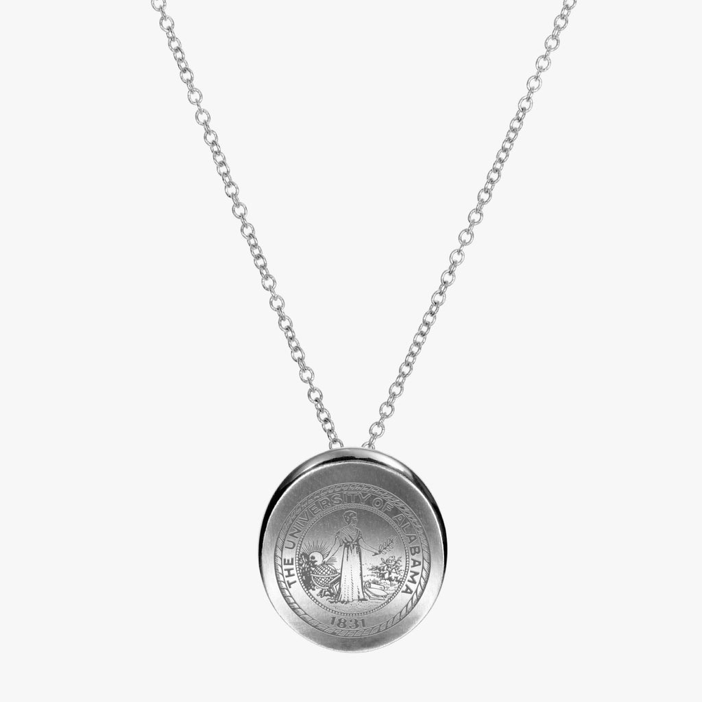 Silver Alabama Organic Crest Necklace