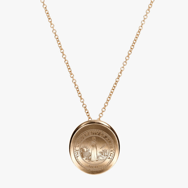 Gold Alabama Organic Crest Necklace