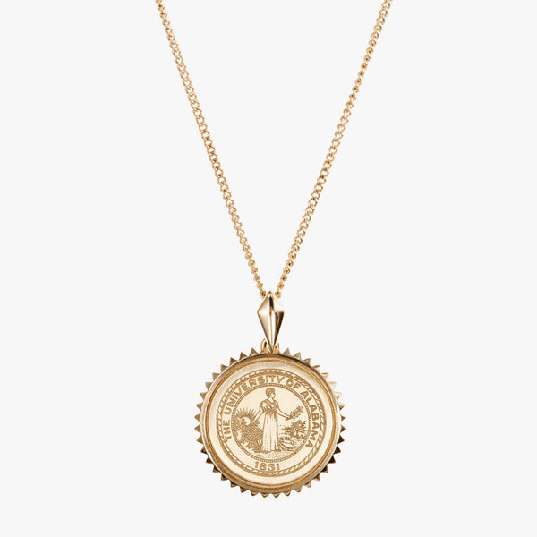 Gold Alabama Sunburst Crest Necklace