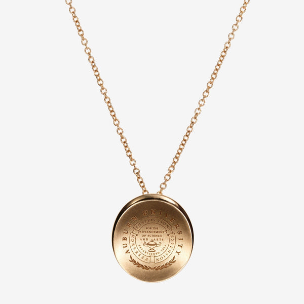 Gold Auburn Organic Crest Necklace